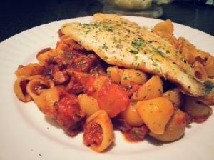 Bream and Tomato Pasta