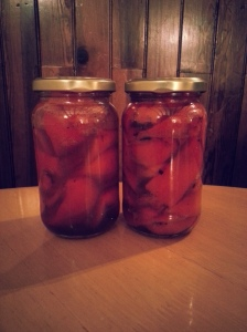 Pickled Roast Peppers
