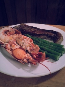 Lobster surf and turf