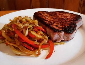 Tuna Steak and Japanese Cabbage