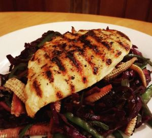 Griddled Chicken and Red Cabbage