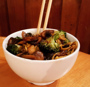 Mushroom and Broccoli Noodle