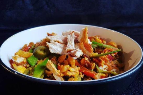 Cauliflower Rice Paella