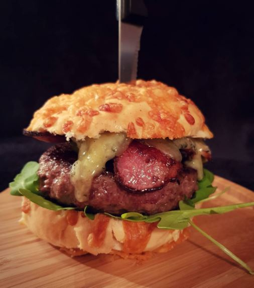 Stilton and Bacon Burger
